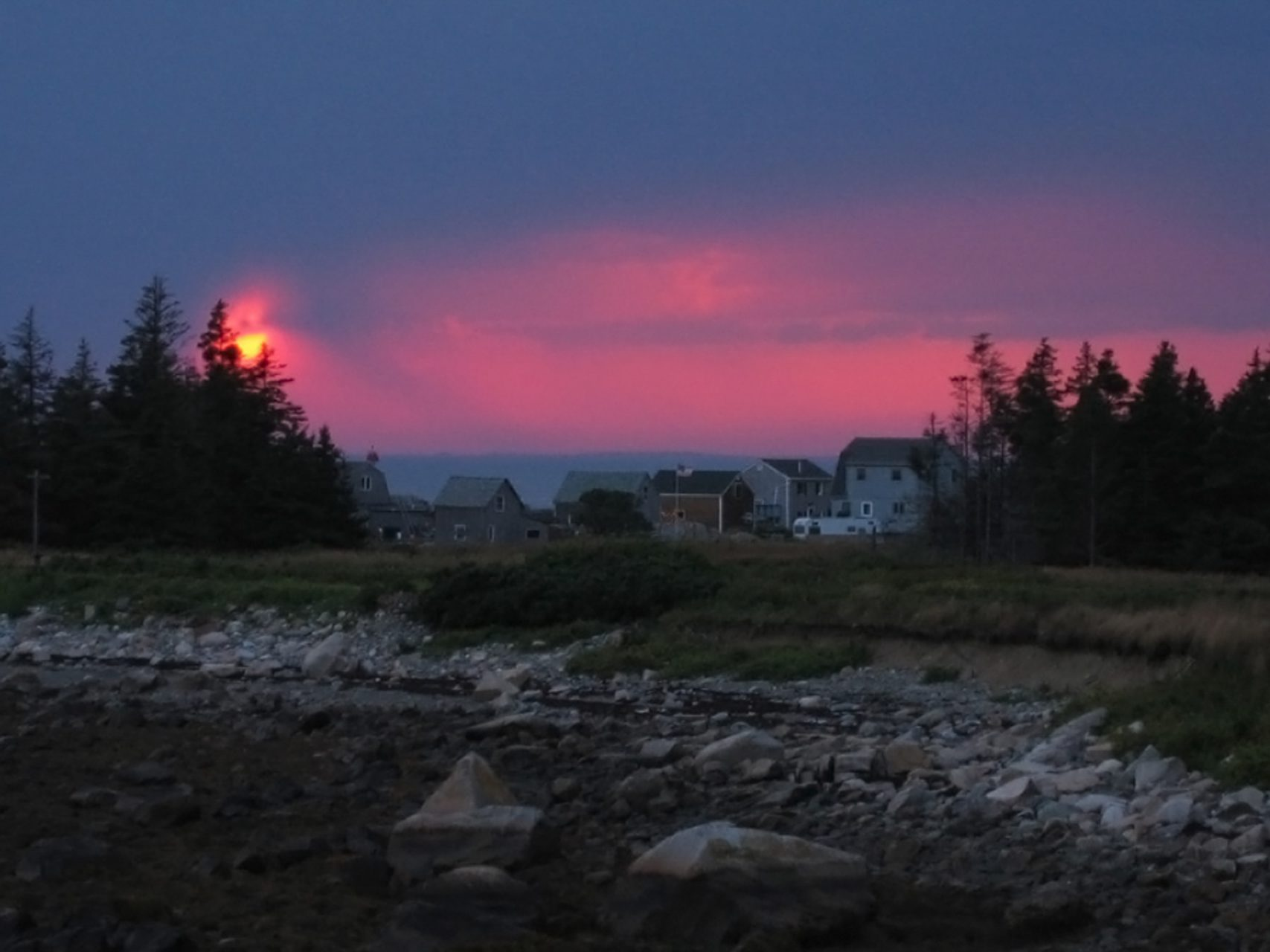"""Sunset Over Seal Cove"", Island of Criehaven, 2003"