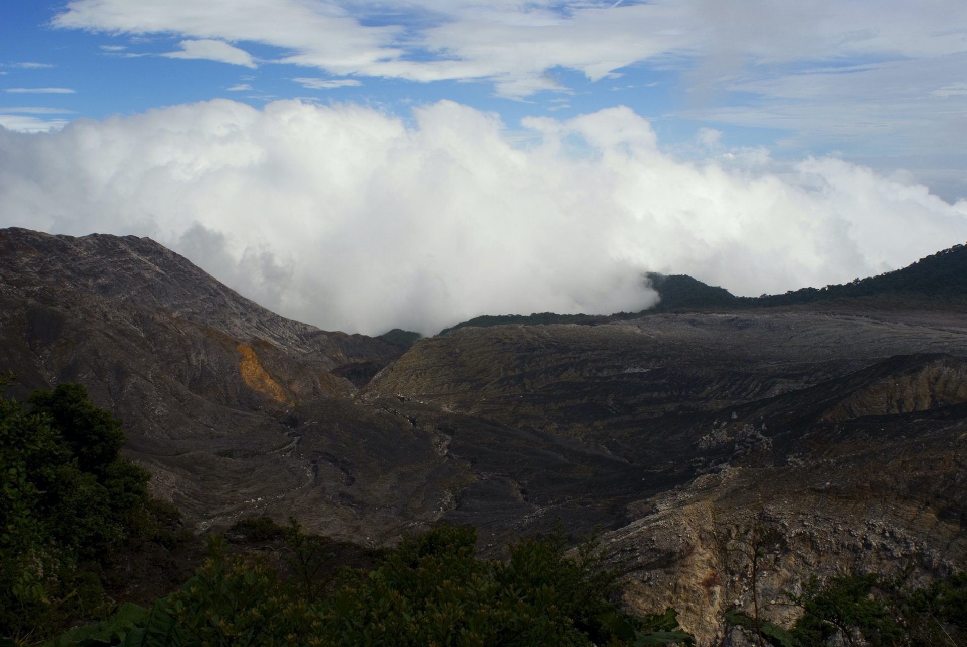 """""""Crater's Edge with Clouds"""", Poas Volcano National Park, San Isidro, Alajuela"""
