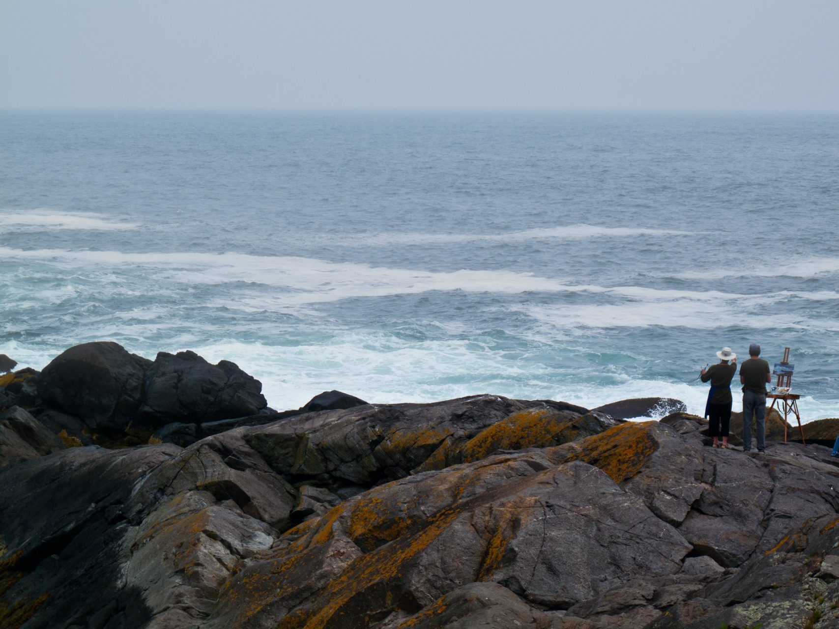 """Student and Teacher"", Island of Monhegan, 2010"